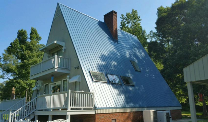 Atlantic Roofing Company Multirib Roofing Blue Side