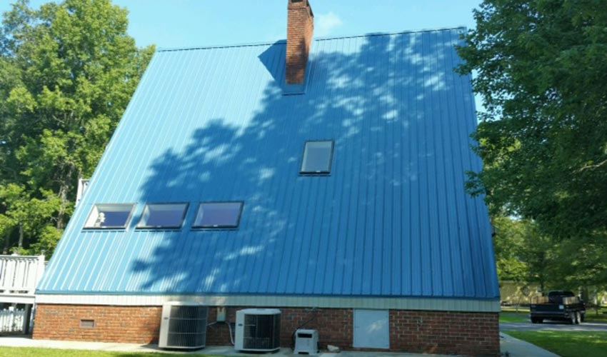 Atlantic Roofing Company Multirib Blue