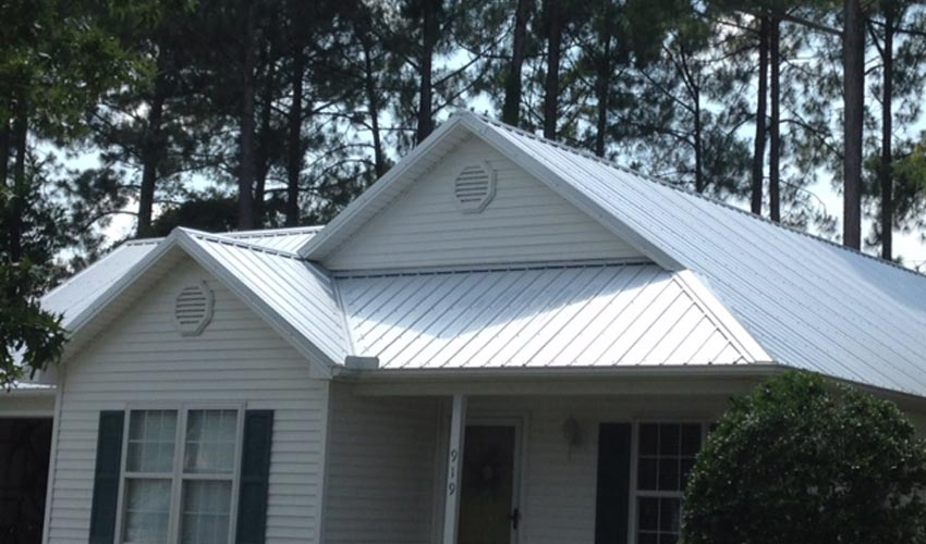 Atlantic Roofing Company Multirib Roofing White