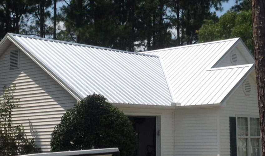 Atlantic Roofing Company Multirib Roofing White Back