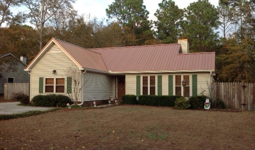Atlantic Roofing Company Multirib Roofing Brown Front