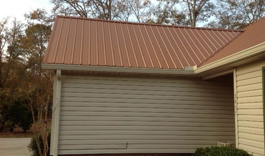 Atlantic Roofing Company Multirib Roofing Brown Side