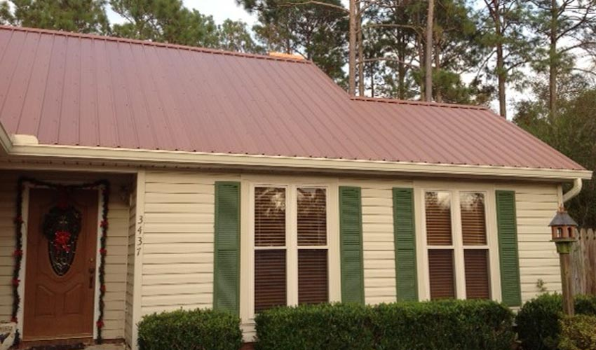 Atlantic Roofing Company Multirib Roofing Brown Back