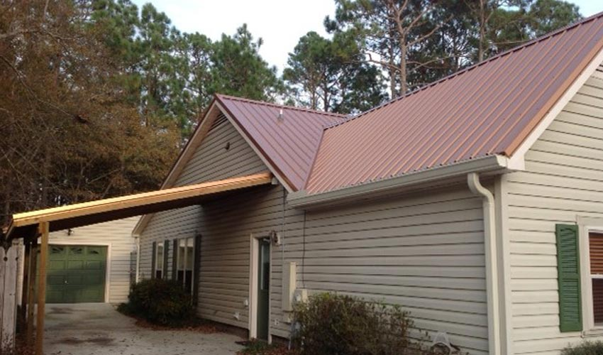 Atlantic Roofing Company Multirib Brown Roofing Front