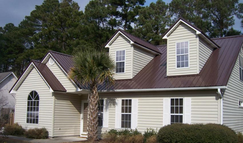 Atlantic Roofing Company Multirib Roofing Dark Brown