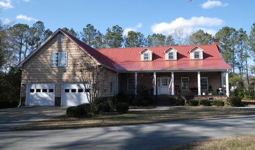 Atlantic Roofing Company Multirib Roofing Dark Red