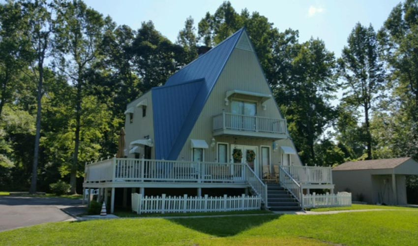 Atlantic Roofing Company Multirib Roofing Blue