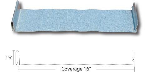Standing seam metal roof sample