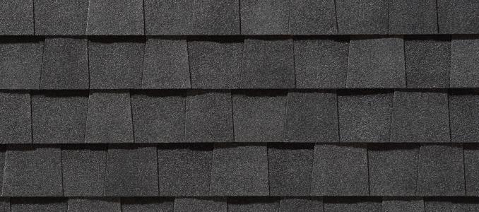 Moire Black shingles