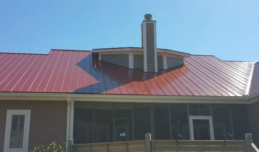 5V Metal Roofing Red Back Wilmington, NC