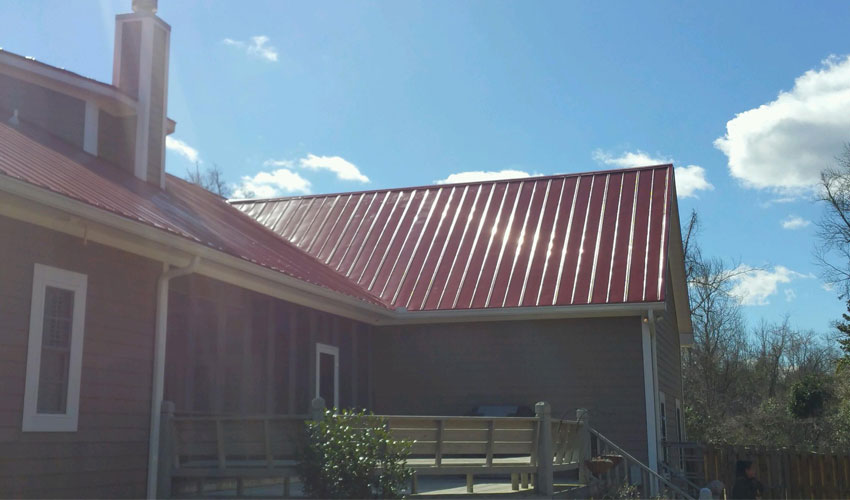 5V Metal Roofing Red Roof Wilmington, NC