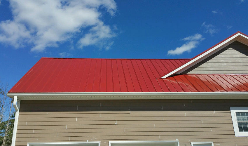 5V Metal Roofing Red Roofing Wilmington, NC