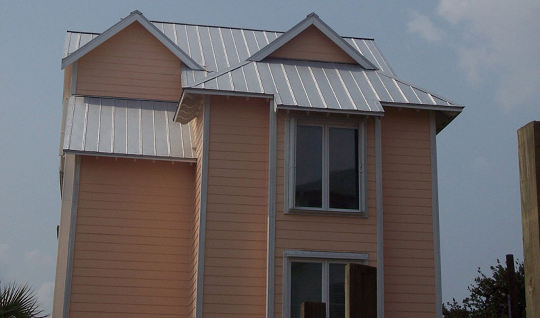 5V Crimp Metal Roof Peach Full Wilmington, NC