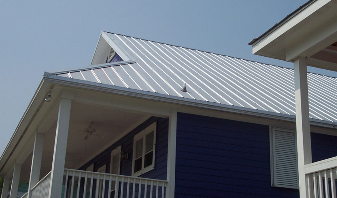5V Crimp Metal Roof Purple Side Wilmington, NC