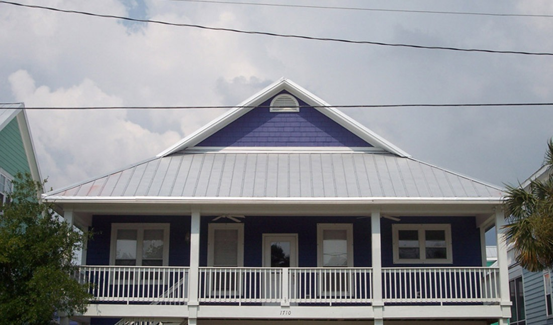 5V Crimp Metal Roof Purple Wilmington, NC