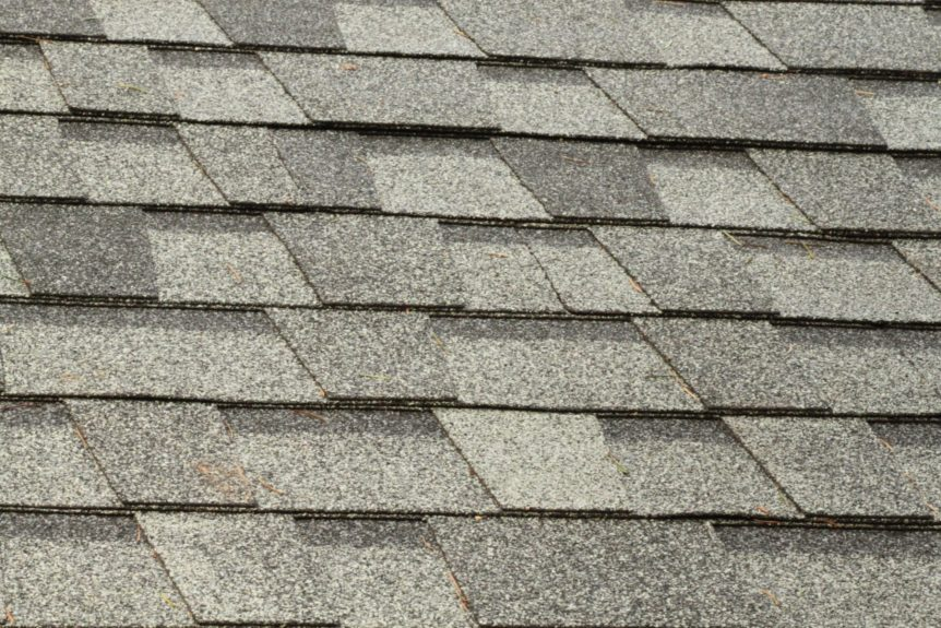 close-up picture of roofing shingles