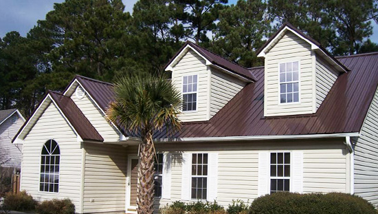 Multi-Rib Metal Roof brown