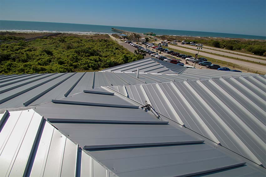 King Fish Bay metal roofing