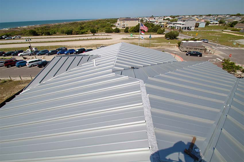 Metal roof example at King Fish Bay