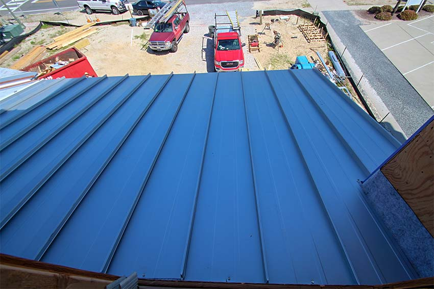 Metal roofing installed at King Fish Bay