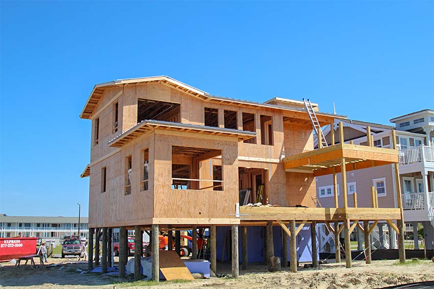 House under construction at King Fish Bay in Calabash