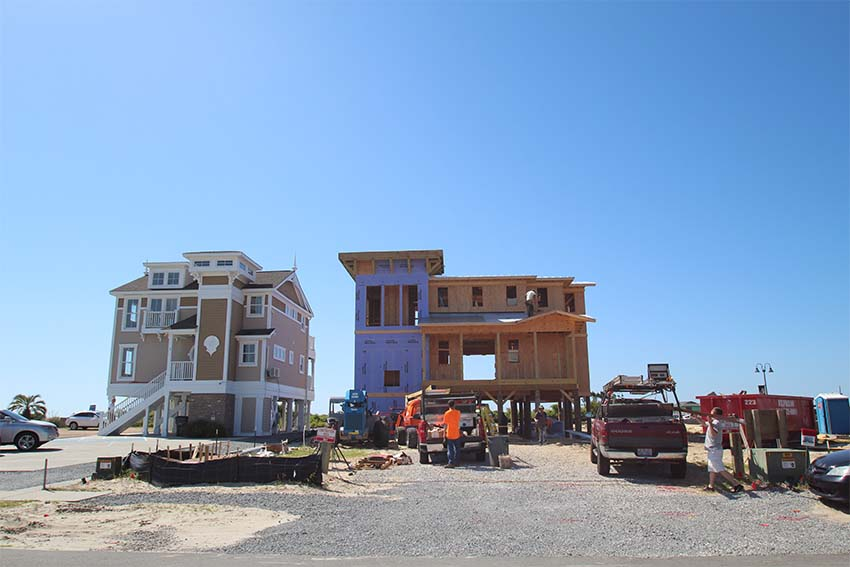 Houses being built at King Fish Bay in Calabash