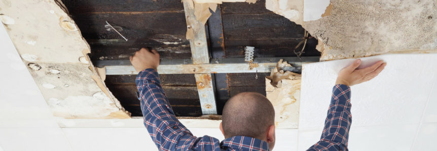 Roofing contractor makes repairs